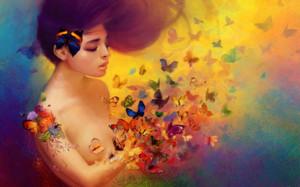 femme-papillons
