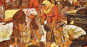 Ismail-Mat-Husin-Kota_Bharu_Market_2011_Batik_122cm_X_122cm_SOLD