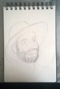 L'homme au chapeau Etape 1