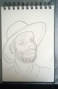 L'homme au chapeau Etape 2