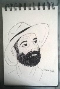 L'homme au chapeau Etape 3