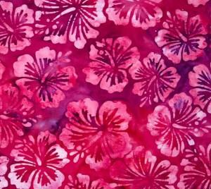 batik hibiscus rose